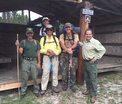 Hikers Along with Doug Ott (right) from the Florida Forest Service